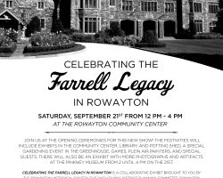 Celebrating the Farrell Legacy in Rowayton – Saturday, September 21