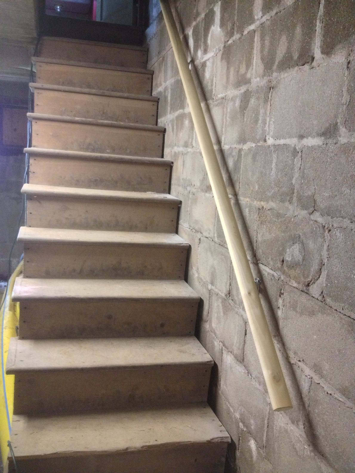 Stair Railing to Storage Installed!