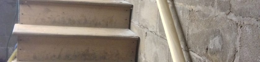 Stair Railing to Storage Installed!